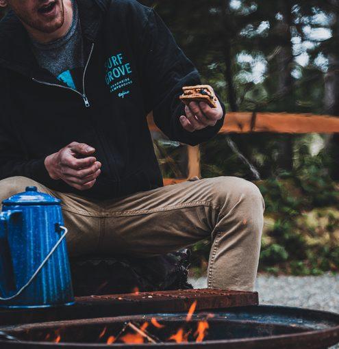 Surf Grove Campfire - Roasting Smores