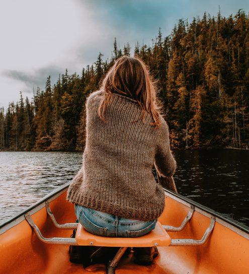Canoeing in Tofino
