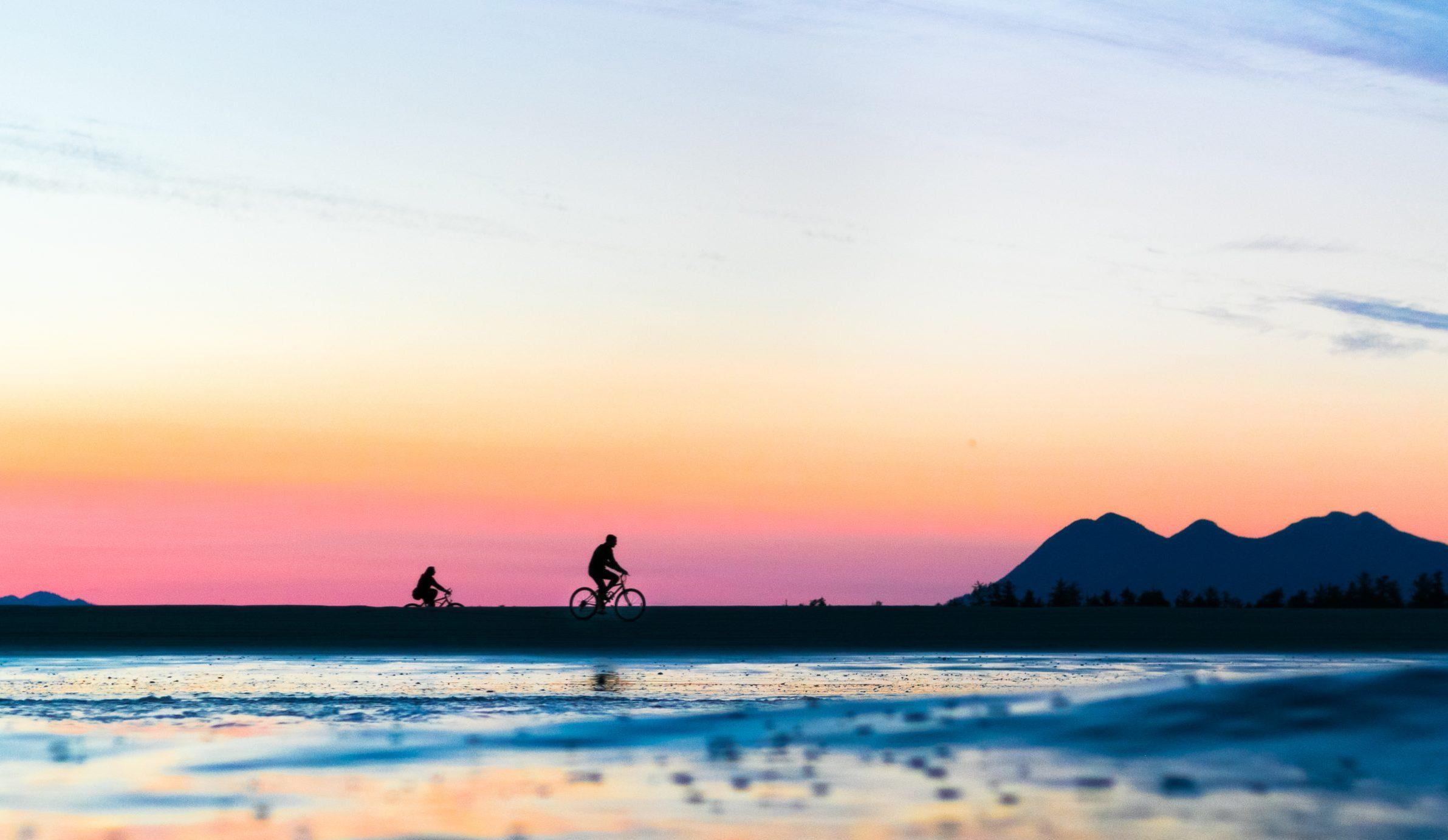 Beach Bike Ride Tofino BC