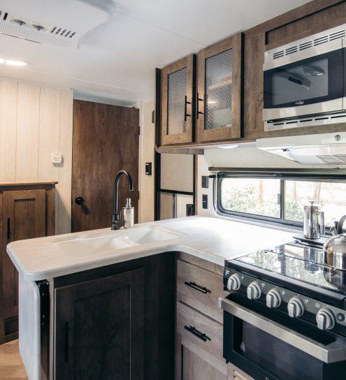 Tofino RV Rentals - Kitchen
